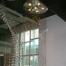 DOUBLE HEIGHT CHANDELIERS